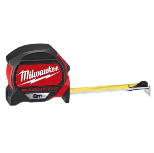 Milwaukee 48227308 Premium Magnetic Tape Measure Metric Only 8m (Width 27mm)
